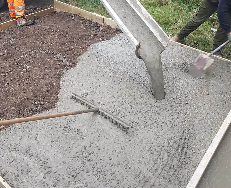 Landscape Gardening: Concrete Base Layers